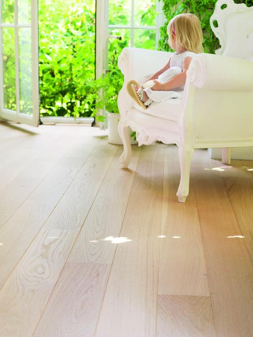 QuickStep Castello Polar Oak Engineered Flooring, Matt Lacquered, 145x3x14 mm Image 2