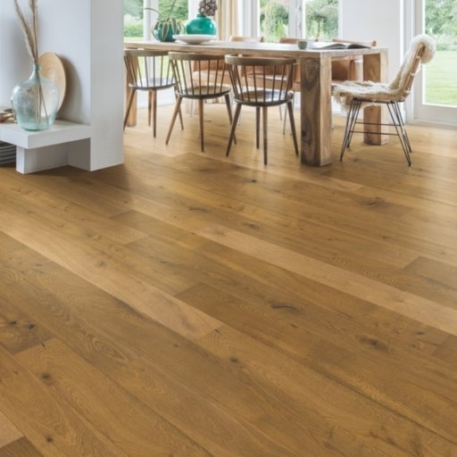QuickStep Castello Barrel Brown Oak Engineered Flooring, Oiled, 145x3x14 mm Image 1