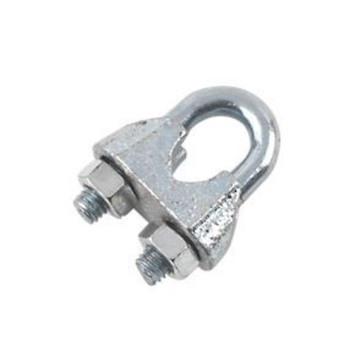 Wire Rope Grips, 3 mm, Zinc Plated Image 1