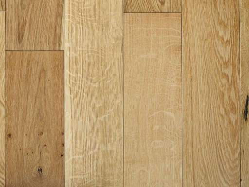 Chene Engineered Oak Flooring, Natural Brushed & Lacquered, 150x6x20 mm Image 1