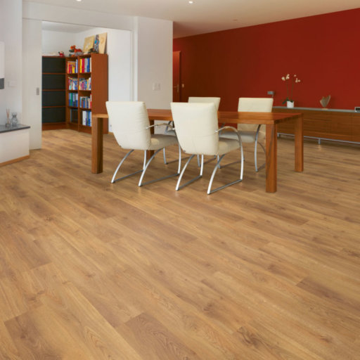 Chene Lucern Oak 4-V Groove Laminate Flooring , 8 mm Image 1