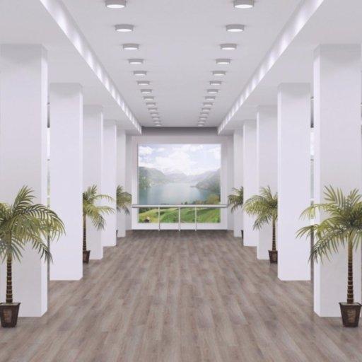 Chene New York Oak 4-V Groove Laminate Flooring , 8 mm Image 1