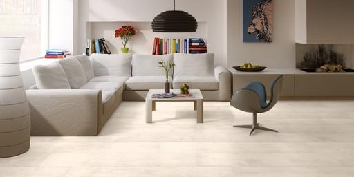 QuickStep CLASSIC Bleached White Teak Laminate Flooring, 8 mm Image 1