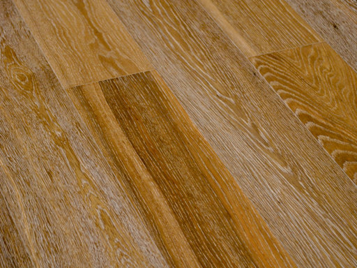 Cheetah Oak Engineered Flooring, Smoked, White Striped, Rustic, Brushed, Oiled, 148x3x14 mm Image 2