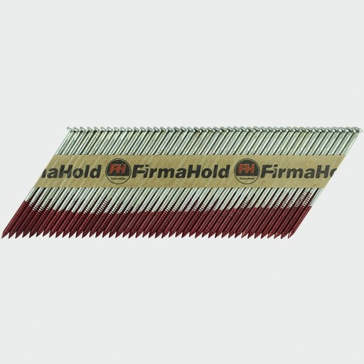 FirmaHold Nail & Gas, 2.8 x 63 mm, Angled Brads & Fuel Pack, FirmaGalvanized Image 2