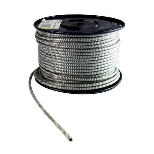Wire Rope, 4 mm, Galvanised, 10 m Image 1