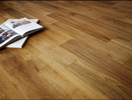 Chene Engineered Oak Flooring, Brushed and Oiled, 125x3x14 mm Image 1