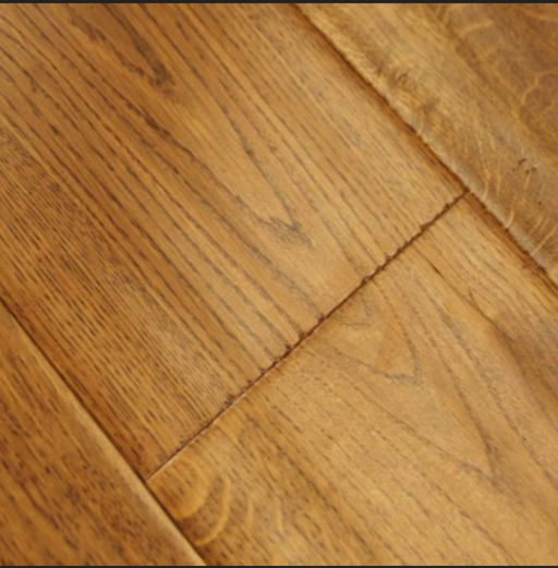 Chene Golden Oak Engineered Flooring, Handscraped, Lacquered, 190x3x14 mm Image 1