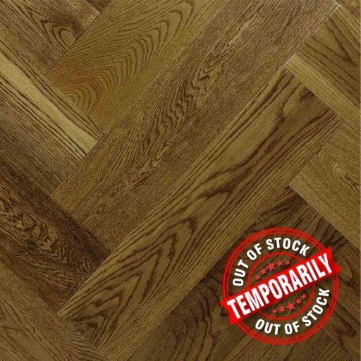 Chene Herringbone Golden Oak Engineered Flooring, Lacquered, 600x150x14 mm Image 1