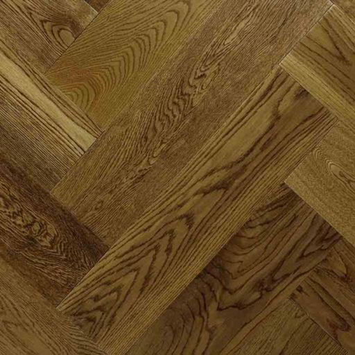 Chene Herringbone Golden Oak Engineered Flooring, Lacquered, 600x150x14 mm Image 2