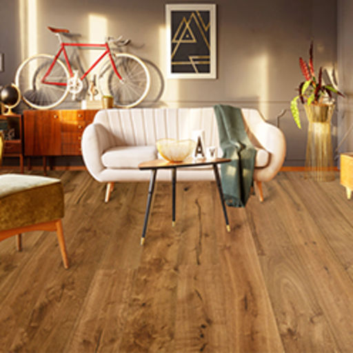 Chene Westminster Rustic Glaze Oak Engineered Flooring, Brushed & Lacquered, 190x15x1900 mm Image 2