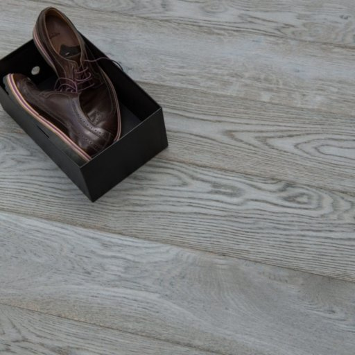 V4 Smokehouse Grey Engineered Oak Flooring, Rustic, Stained, Brushed & Hardwax Oiled, 190x15x1900 mm Image 2