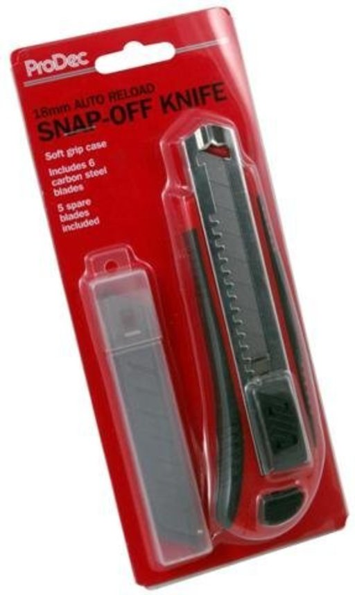 Duragrip Auto Load Snap Off Utility Knife, 18 mm Image 1