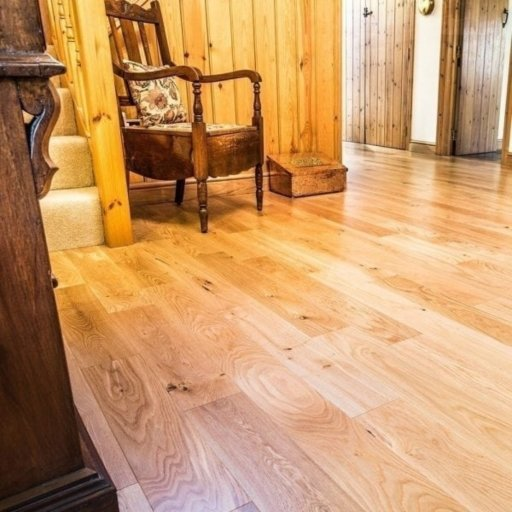 V4 Eiger Petit Engineered Oak Flooring, Rustic, Satin Lacquered, 125x18xRL mm Image 1