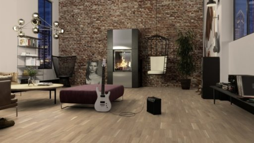 Boen Finale Oak Engineered 3-Strip Flooring, Live Pure Lacquered, 215x3x14 mm Image 1