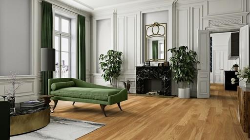 Boen Animoso Oak Engineered Flooring, Castle Plank, Brushed, Oiled, 14x209x2200 mm Image 1
