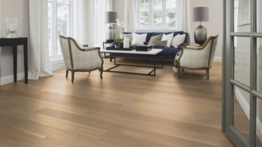 Boen Finesse Oak Parquet Flooring, Natural, Live Pure Lacquered, 10.5x135x1350 mm Image 1
