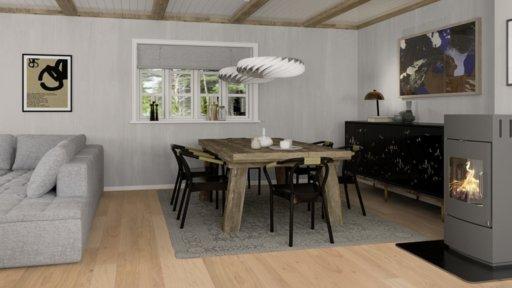 Boen Finesse Oak Parquet Flooring, Rustic, Live Matt Lacquered, 10.5x135x1350 mm Image 2