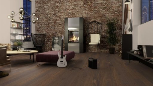 Boen Andante Smoked Oak Engineered Flooring, Live Pure Lacquered, 14x138x2200 mm Image 2