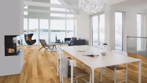 Boen Animoso Oak Engineered Flooring, White, Oiled, 138x3.5x14 mm Image 1