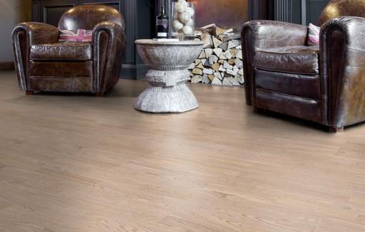 Boen Andante Oak White Engineered 3-Strip Flooring, Matt Lacquered, 215x3x14 mm Image 1