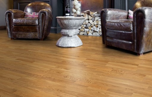 Boen Andante Smoked Oak Engineered 3-Strip Flooring, Protect Ultra, 209x3.5x14 mm Image 1