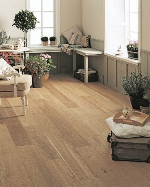 Elka Oak Engineered Flooring, Rustic, Brushed, Oiled, 190x3x14 mm Image 1