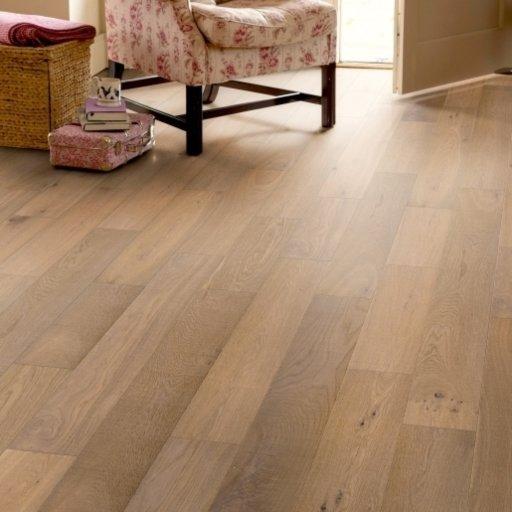 Elka Native Oak Hand Sawn Engineered Flooring, Brushed & Oiled, 150x18 mm Image 1