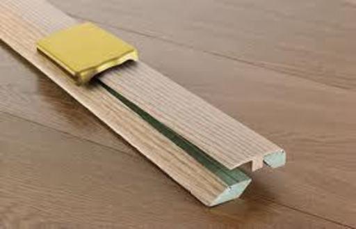 Elka 3-in-1 Real Wood Veneer Profile, Unfinished, 930 mm Image 1