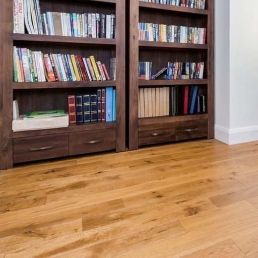 V4 Eiger Petit Golden Stained Engineered Oak Flooring, Rustic, Brushed & Oiled, 125x18xRL mm Image 3