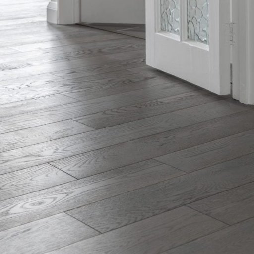 V4 Eiger Petit Grey Stained Engineered Oak Flooring, Rustic, Brushed & Lacquered, 150x18xRL mm Image 3