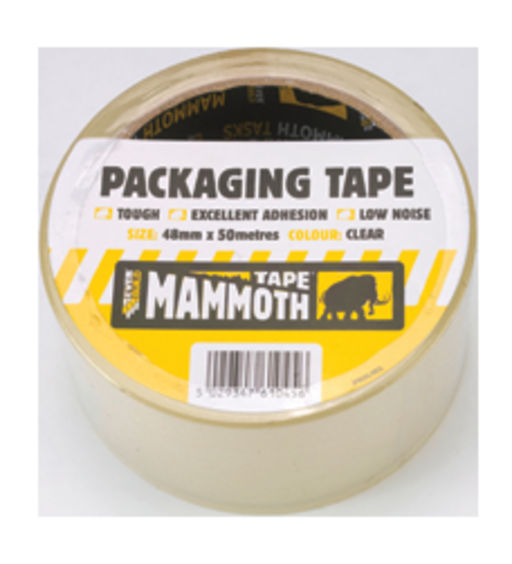 Everbuild Mammoth Packaging Tape, Clear, 48 mm, 50 m Image 1