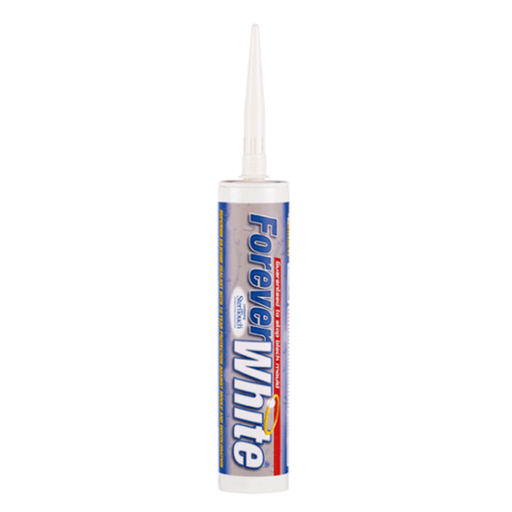 Everbuild Forever White Sanitary Silicon Sealant, 295 ml Image 1