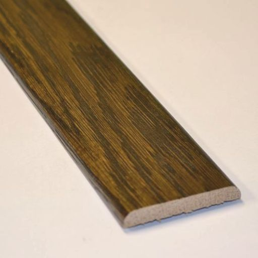 Solid Dark Oak Flat Threshold Strip, Lacquered, 0.9m Image 1