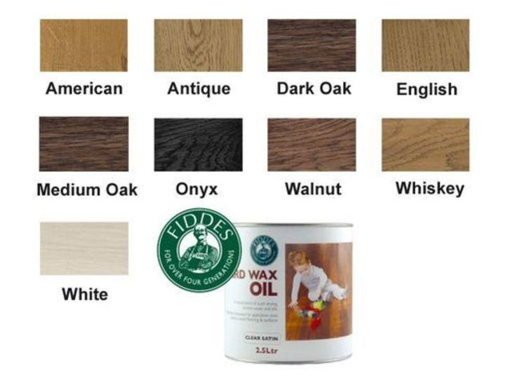 Fiddes Hardwax-Oil, Rustic Oak Finish, 1L Image 2