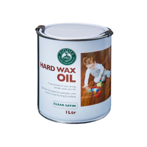 Fiddes Hardwax-Oil, Onyx Black Finish, 1L Image 1