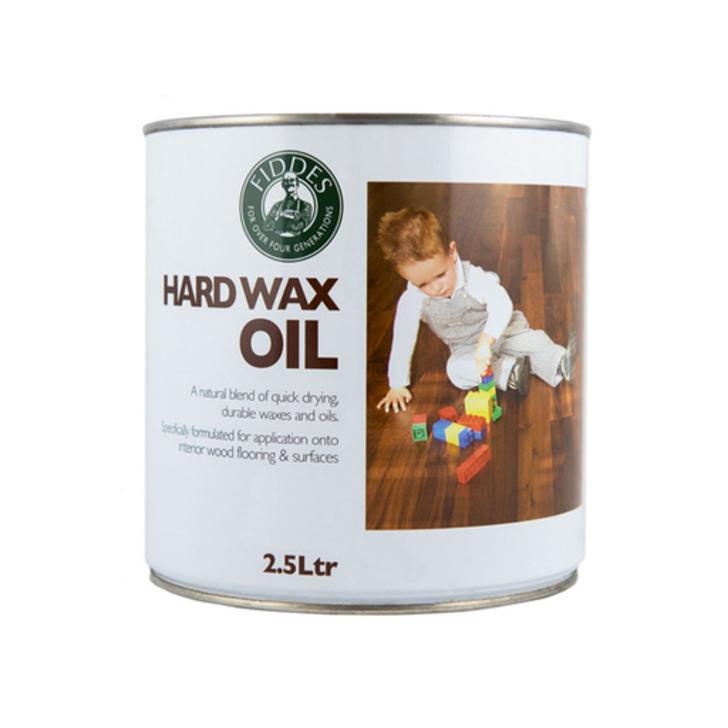 Fiddes Hardwax-Oil, White Finish, 2.5L Image 1