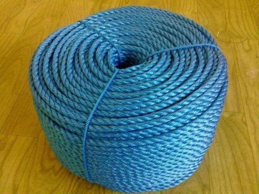 Stranded Polypropylene Rope, 10 mm, Blue, 10 m Image 1