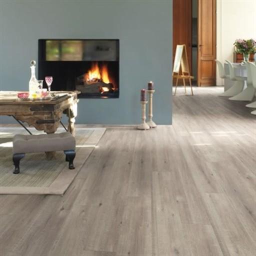 QuickStep Impressive Saw Cut Oak Grey Laminate Flooring, 8 mm Image 1
