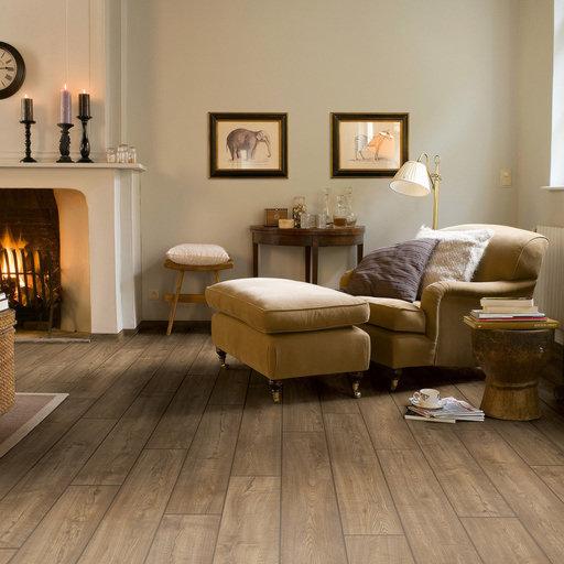 QuickStep Impressive Ultra Scraped Oak Grey Brown Laminate Flooring, 12 mm Image 1