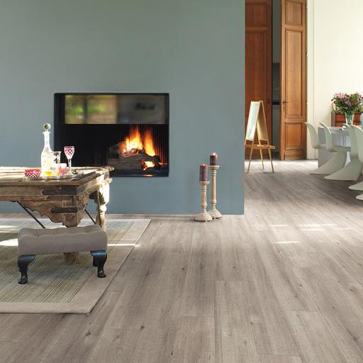 QuickStep Impressive Ultra Saw Cut Oak Grey Laminate Flooring, 12 mm Image 1