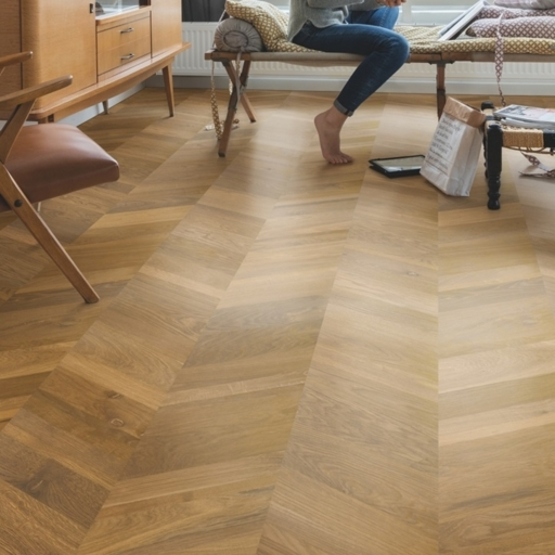 QuickStep Intenso Traditional Oak Engineered Parquet Flooring, Oiled, 310x14x1050 mm Image 1