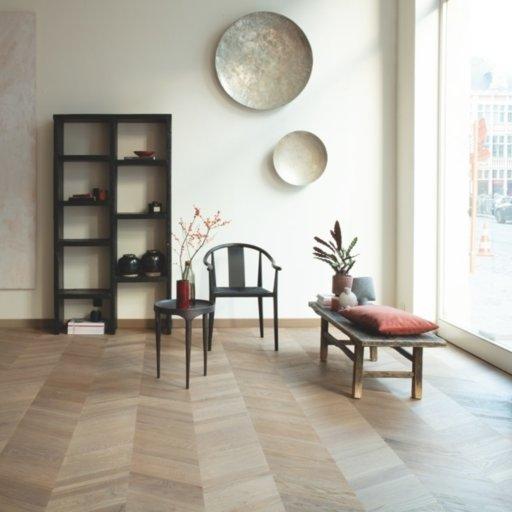 QuickStep Intenso Eclipse Oak Engineered Parquet Flooring, Oiled, 310x14x1050 mm Image 1