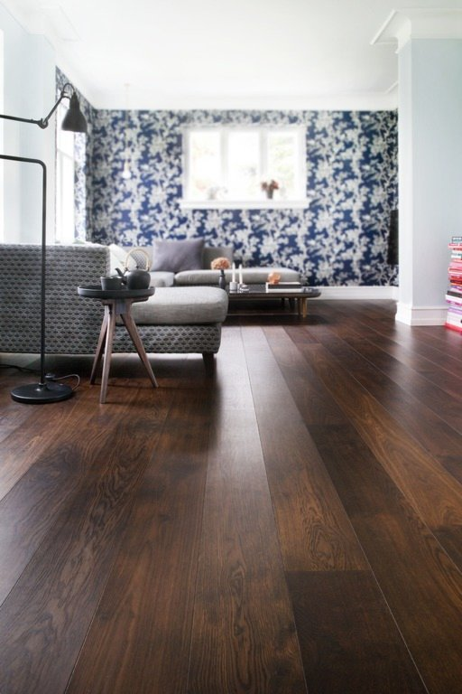 Junckers Black Oak Boulevard Solid Wood Plank Flooring, Untreated, Harmony, 185x20.5 mm Image 2