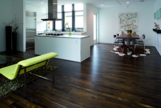Junckers Solid Black Oak 2-Strip Flooring, Ultra Matt Lacquered, Harmony, 129x14 mm Image 1