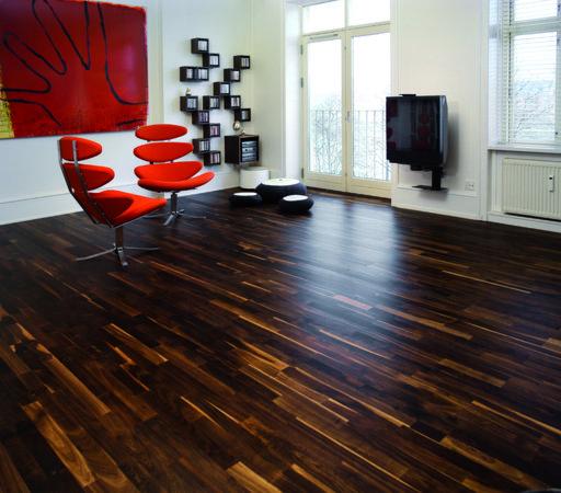 Junckers Solid Black Oak 2-Strip Flooring, Untreated, Variation, 129x14 mm Image 2