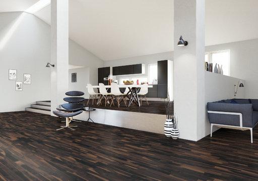 Junckers Solid Black Oak 2-Strip Flooring, Untreated, Variation, 129x14 mm Image 1