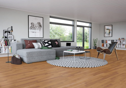 Junckers Beech SylvaKet Solid 2-Strip Flooring, Silk Matt Lacquered, Classic, 129x22 mm Image 1