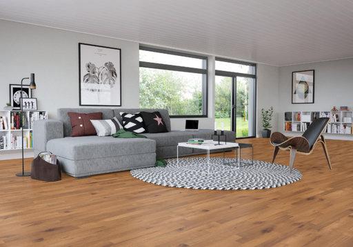 Junckers Beech SylvaKet Solid 2-Strip Wood Flooring, Ultra Matt Lacqured, Variation, 129x14 mm Image 3