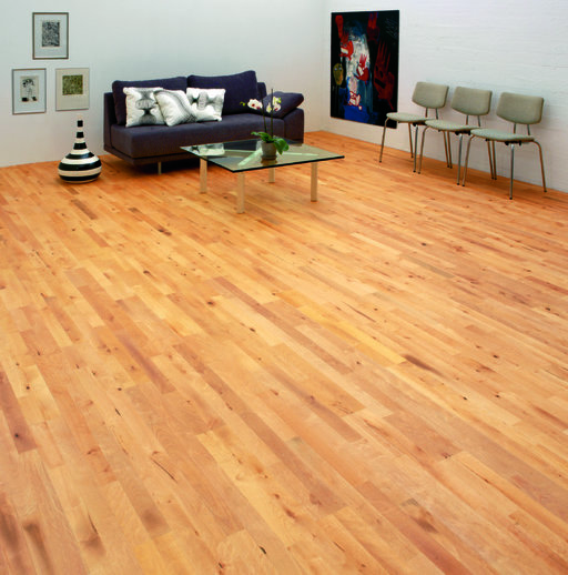 Junckers Beech Solid 2-Strip Wood Flooring, Oiled, Variation, 129x22 mm Image 4